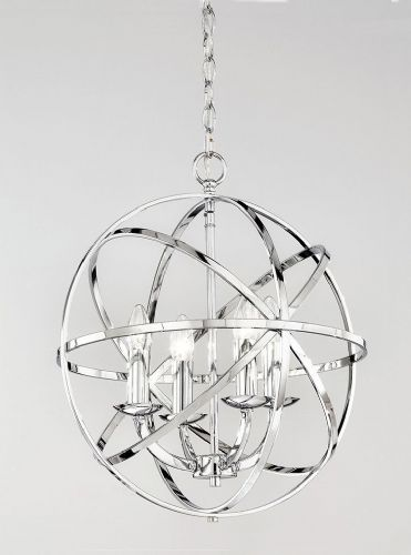 Franklite FL2280/4 Chrome Pendant Light